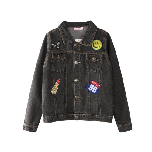 Funky Babe – SS18219 – Denim Jacket – Badge