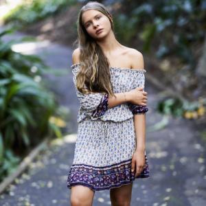 WILD BLOSSOM – Camilla Dress – Bluebell