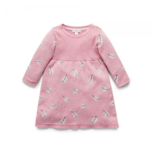 Pure Baby – Feather Knitted Dress