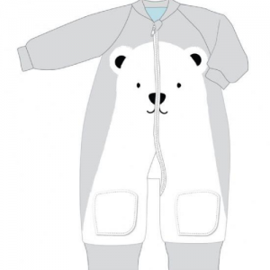 BABY STUDIO – Warmies Fleece With Arms 3.0 TOG POLAR BEAR