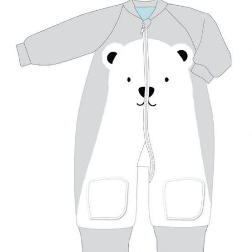BABY STUDIO – Warmies Fleece With Arms 3.0 TOG POLAR BEAR