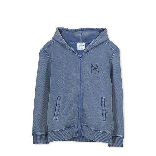 MILKY – 118W07 – Garment Dyed Zip Jacket