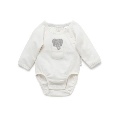 Pure Baby – L/Slv Bodysuit – little elephant