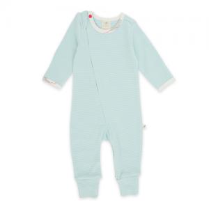 Tiny Twig – Zip Suit Coolblue Stripes
