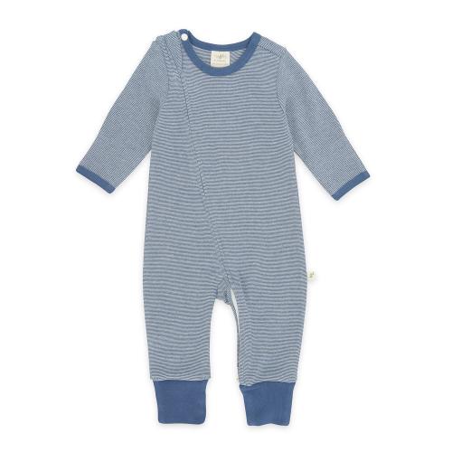 Tiny Twig – Zip Suit Saphire Stripes