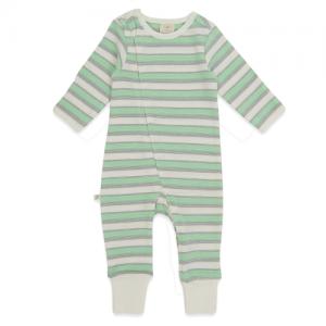Tiny Twig – Zip Suit Cedar Stripes