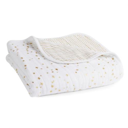 ADEN+ANAIS –  Classic Dream Blanket – Metallic Gold