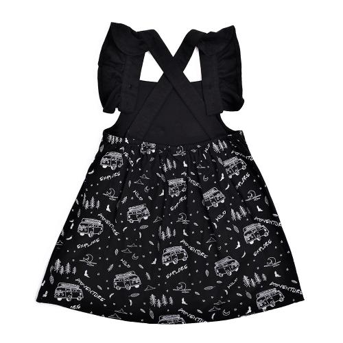 Aster&Oak – Mono Combi Cross Back Flutter Dress