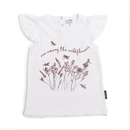 Aster&Oak – Wildflower Print flutter Tee