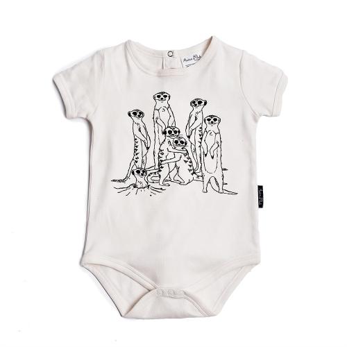 Aster&Oak – MeerKat Family Print onesie