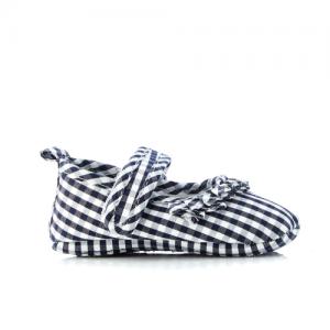 WALNUT – Mini MJ Navy White Gingham