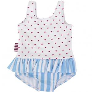 SOOKIbaby – Heart Stripe Frill Swimsuit
