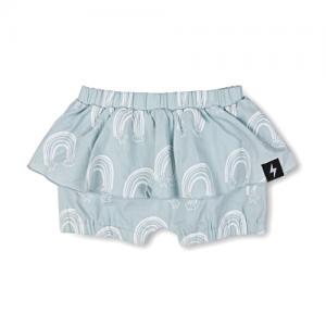 KAPOW – Rainbow Chambray Ruffle Shorts