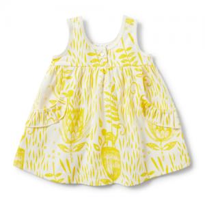 Wilson&Frenchy – Mellow Yellow Ruffle Pocket Dress