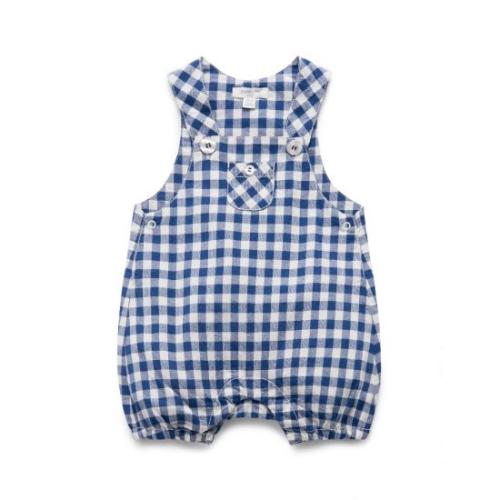 Pure baby – Gingham S/Leg Romper