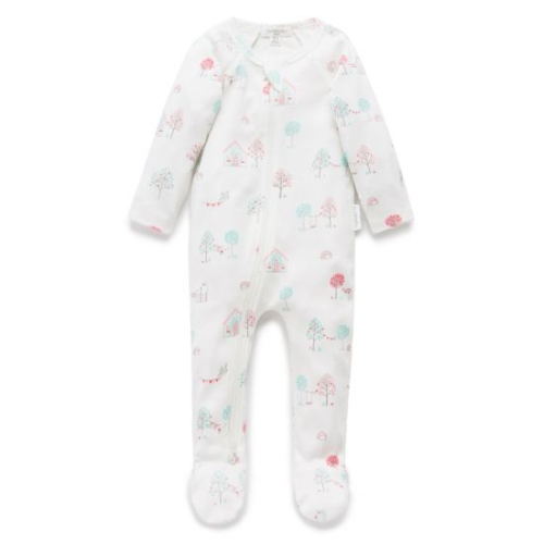 Pure Baby – Zip Growsuit – Garden Party