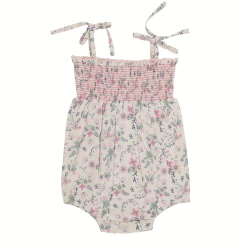 Tiny Twig – Smocked Bodysuit Pretty Petal
