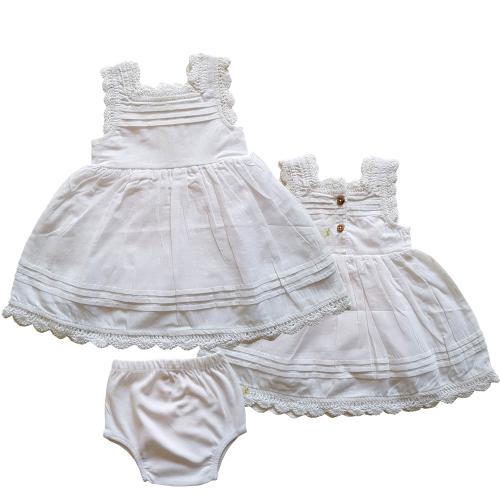 Tiny Twig – White Blossom Dress