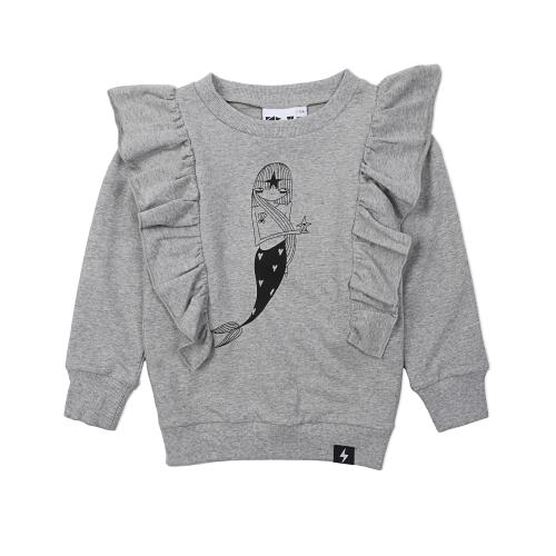 KAPOW – Mermaid Placement Ruffle Sweater