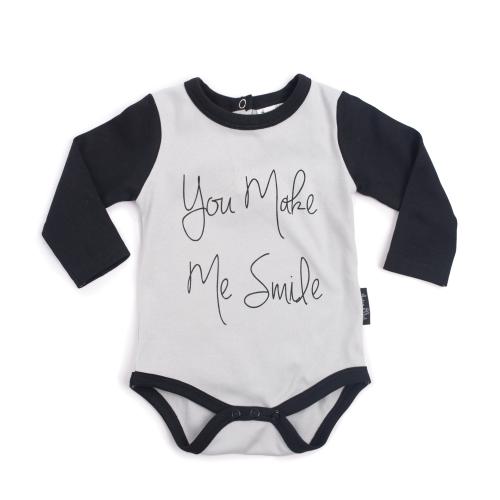 ASTER&OAK – You Make Me Smile Raglan onesie