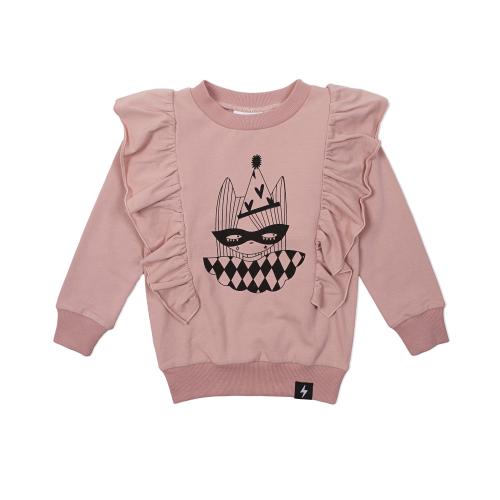 KAPOW -Harlequin Placement Ruffle Sweater