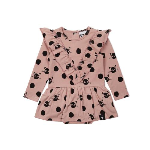 KAPOW – Spot the Cat Baby Dress