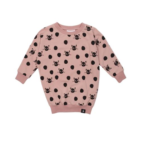 KAPOW – Spot the Cat Sweater Dress