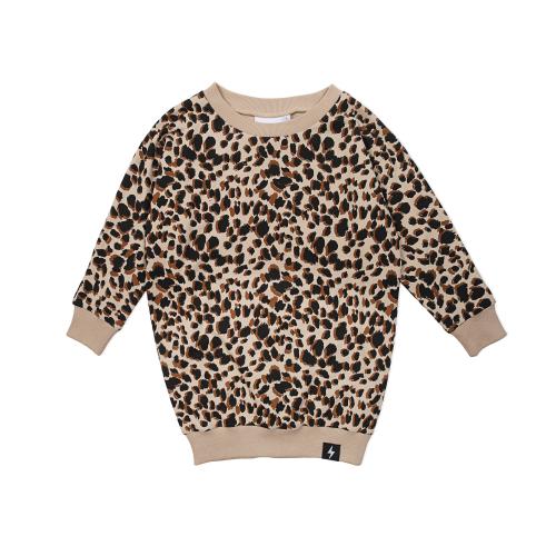 KAPOW – Leopard Print Sweat Dress