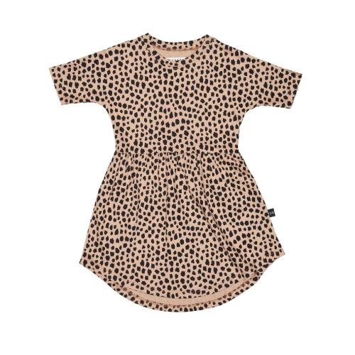 HUXBABY – Leopard Swirl Dress