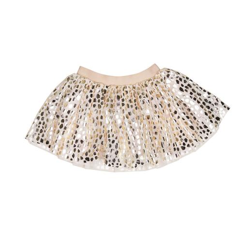 HUXBABY – Gold Leopard Tulle Skirt