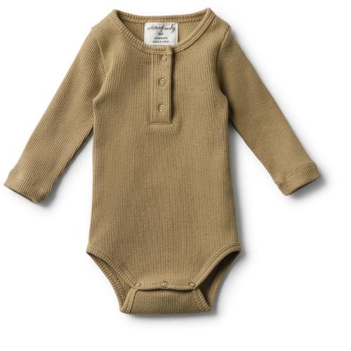 Wilson&Frenchy – Organic Olive Rib LS Bodysuit