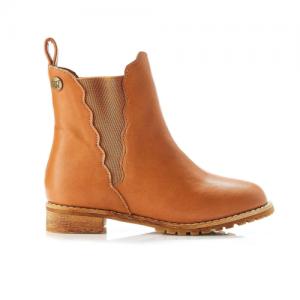 WALNUT – Kendall Scalloped Boot Tan