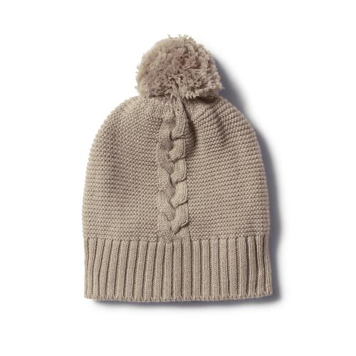 Wilson&Frenchy – Birch Cable Knit Hat with Pom Pom