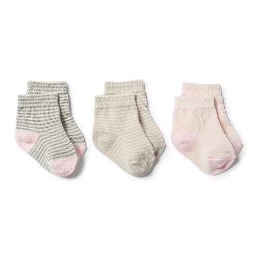 Wilson&Frenchy – Oyster/Grey/Eggshell – 3pk Baby Socks