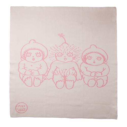 WALNUT – May Gibbs Bowie Knit Blanket Pink
