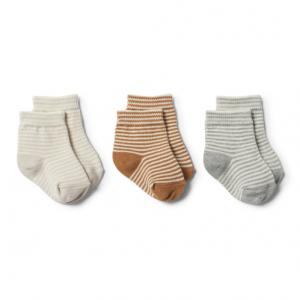 Wilson&Frenchy – Camel/Grey/Eggshell – 3pk Baby Socks
