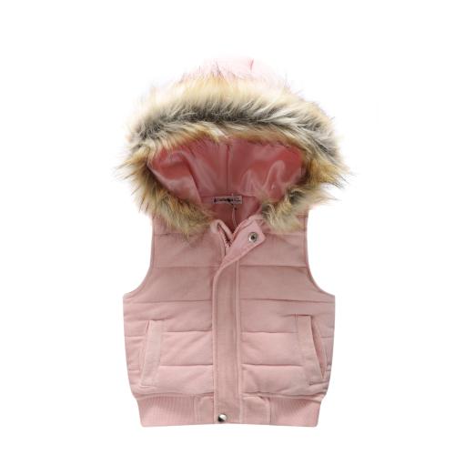 CRACKED SODA – Baby Girls Velvet Hoodie Vest