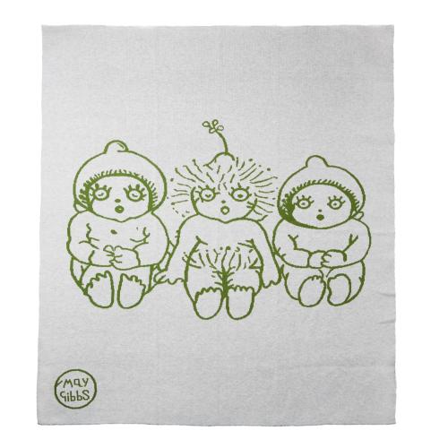 WALNUT – May Gibbs Bowie Knit Blanket Bush Baby