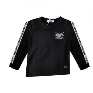 Cracked Soda – Diagonal Zip Jersey Top