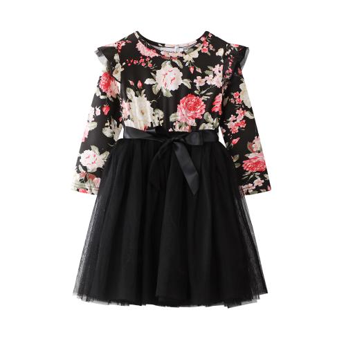 Cracked Soda – Floral Print TUTU DRESS