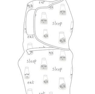 BABY STUDIO – Swaddlewrap Small MILK BOTTLES