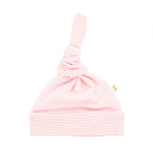Tiny Twig – Knotted Beanie – Pink Stripe