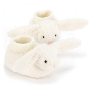 JellyCats – Bashful Cream Bunny Booties (0-6m)