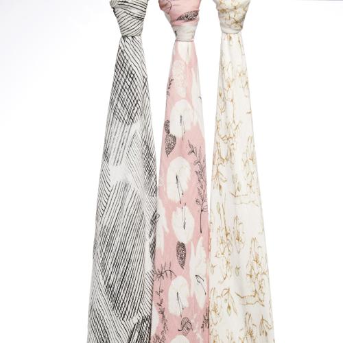 ADEN+ANAIS – Silky Soft Swaddles – Pretty Petals