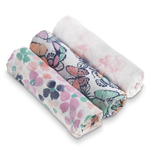 ADEN+ANAIS – 3 pack Silk soft swaddles – festival