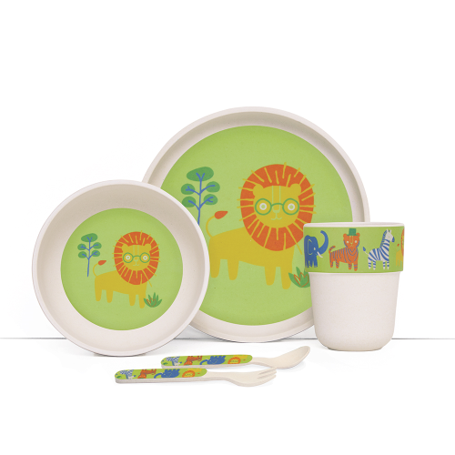 Penny Scallan – Bamboo Meal Set with Cutlery – Wild Thing