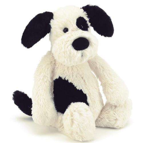 JellyCat – Black&Cream Puppy Medium