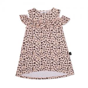 KAPOW – Cheetah Cold Shoulder Dress