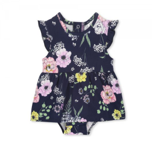 MILKY – Navy Floral Baby Dress