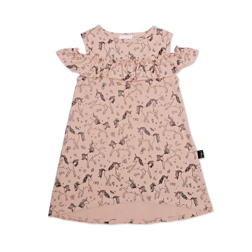 KAPOW – Unicorn Cold Shoulder Dress